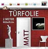 (EUR 6,14 / Quadratmeter) Türfolie 2 Meter x 1,05 M Möbelfolie MATT DEKORFOLIE Selbstklebend PREISTIP!