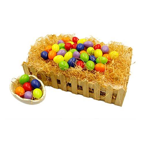 Ostereier 36 Sets DIY Bemalte Eier Kinderspielzeug Ostern Dekoration Plastik Osterhänger Osterdeko