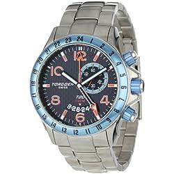 Torgoen Swiss Herren-Armbanduhr Analog Quarz Edelstahl T20203