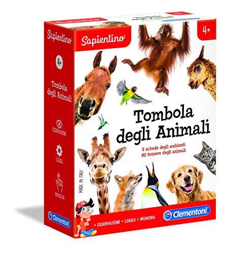 Clementoni-16143-Sapientino-Tombola degli Animali, Gioco educativo, Multicolore, 16143