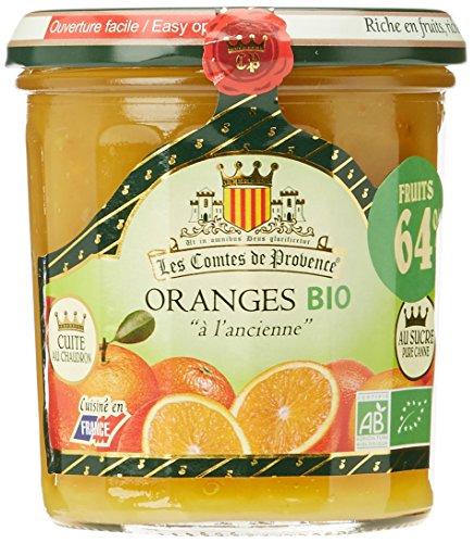 Les Comtes De Provence Marmelade d'oranges Bio à l'ancienne 350 g - Lot de 3