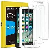 SPARIN [3-Pezzi] Vetro Temperato Compatibile con iPhone 8/7 6 / 6s [Strumento per Una Facile Installazione], Pellicola Vetro Temperato iPhone 8/7 [Alta Trasparente] [Nessuna Bolla] [Anti-Impronte]