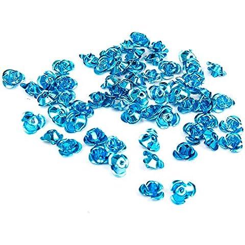 100pcs 8 Millimetri In Alluminio Blu Anodizzato Rosa