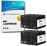 Printing Pleasure 10 Cartucce d'inchiostro compatibili per HP Officejet 6100, 6600, 6700, 7110, 7600, 7610, 7612 / Sostituzione per HP 932XL, HP 933XL / CN053AE, CN054AE, CN055AE, CN056AE