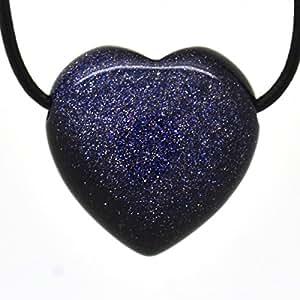 Pierre de soleil bleue, Pendentif Coeur