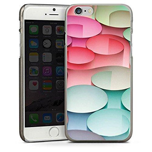 Apple iPhone 4 Housse Étui Silicone Coque Protection Cercles Papier Structure CasDur anthracite clair
