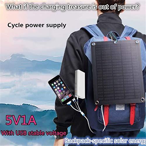 XuBa Sicherheitseffizientes tragbares Solar-Ladegerät 5 V Outdoor Notfallrucksack Solarladeplatte