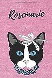 Rosemarie Notizbuch Katze / Malbuch / Tagebuch / Journal / DIN A5 / Geschenk:...