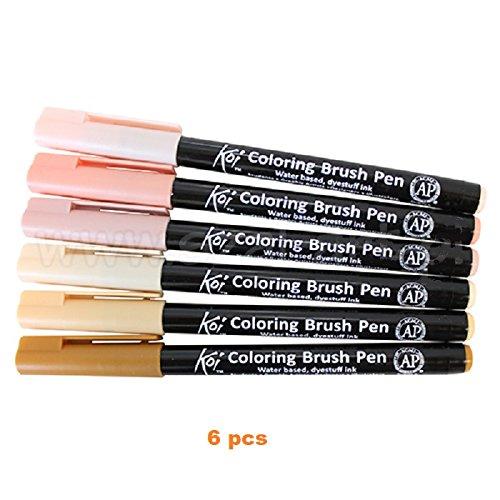 manga set Brush pen Koi Coloring Brush Set, 6 colors - Buy Online in ...