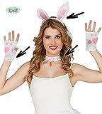 4 Teile SET - HÄSCHEN - ( Ohren am Haarreif, Halsband & 1 Paar fingerlose Handschuhe ), Junggesellinenabschied Junggesellenabschied Köstumverkleidung Hase Bunny