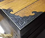 PK von 4Metall Fall Ecken Antik Bronze Finish 58mm über gerade D003