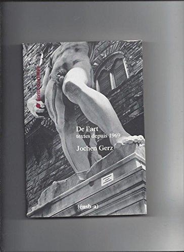 De l'art : Textes depuis 1969