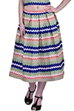 Divaat Women's Multicolor Pleated Midi S...