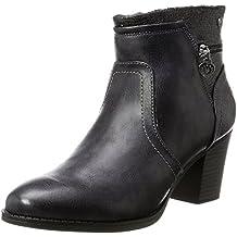 SHOWHOW Damen Modern Nieten Biker Boots Stiefel mit Absatz Stiefelette Schwarz 47 EU 2AQ9s