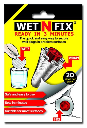 WETNFIX (20 DISCS) - Fixing Wall Plugs Fast! No need to fill or redrill by WETNFIX