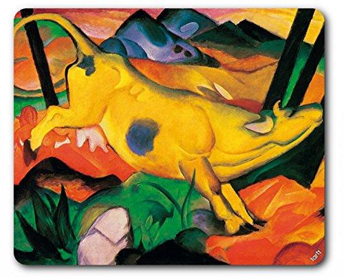 franz-marc-la-vacca-gialla-1911-tappetino-per-mouse-23-x-19cm
