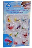 #5: Okayji 12Pcs Butterfly Design Dry Fly Fishing Flies Fish Lure Hook Accessories