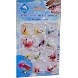 Okayji 12Pcs Butterfly Design Dry Fly Fishing Flies Fish Lure Hook Accessories