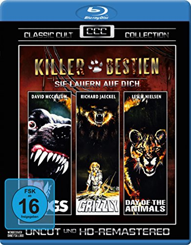 Killer Bestien - Sie lauern auf Dich (Dogs - Grizzly - Day of the Animals) - Classic-Cult-Edition(3 Blu-Rays) (Dog Days-dvd)