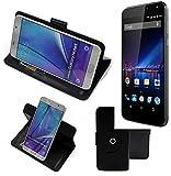 K-S-Trade® Case Schutz Hülle für Phicomm Energy 3+ Handyhülle Flipcase Smartphone Cover Handy Schutz Tasche Bookstyle Walletcase schwarz (1x)
