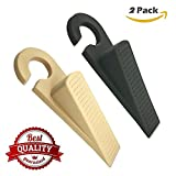 #8: HOMIZE™ Plastic Wedge Shaped Rubber Door Stoppers, 2 Piece Set, Random Color