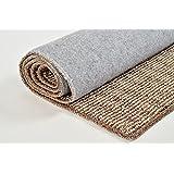 zxdg-polyester/algodón Plain Weave para salón o dormitorio estudio salón pasillo mesa de café restaurante alfombra, marrón., Algodón/poliéster, 40X120cm(1.3X3.9ft)