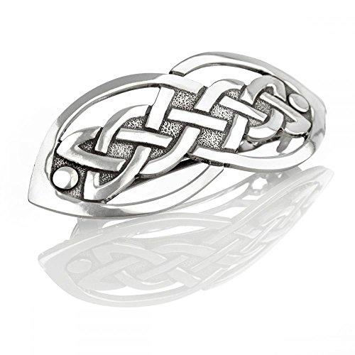 Open Celtic Knot - offen gefertigte keltische Haarspange aus massivem Zinn