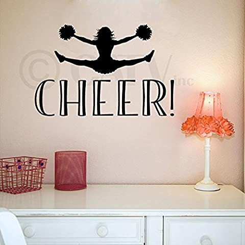 Cheer! vinyl lettering wall decal sticker by Wall Paper Sticker Decals
