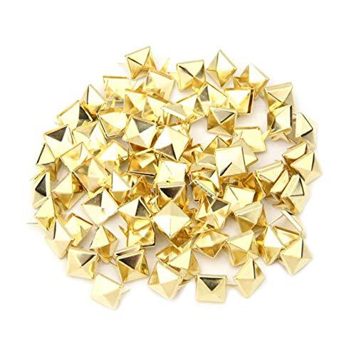 100 Pyramide-Bolzen-Bolzen-Niet Von Spike Platz DIY Punk Spot für DIY10 Mm Gold- (Frauen Spike-bolzen-ohrringe Für)