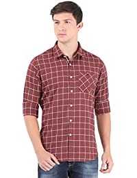 Sting Red Checks Full Sleeve Casual Shirt