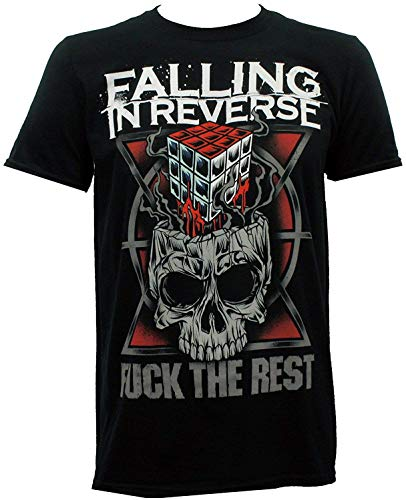 Mabby Falling in Reverse Band Fick den Rest Slim Fit Lustiges Grafik-T-Shirt (Falling Reverse Band-t-shirts In)