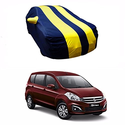 MotRoX Sporty Yellow Stripe Car Body Cover For Maruti Suzuki Ertiga (Water Resistant and Triple Stiched-GN)  available at amazon for Rs.919