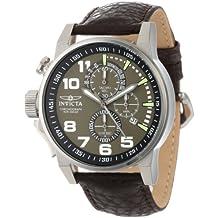Invicta 13054 - Reloj de cuarzo para hombres, color marrón