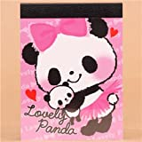 Taco de notas mini osos panda kawaii niña