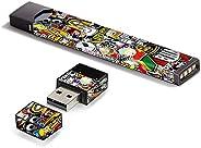 غلاف لاصق من الفينيل من IT'S A Skin لـ Pax JUUL Vape مع غطاء ملصق شاحن USB، ملصق بومب