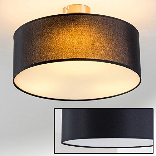 Plafonnier design Foggia avec abat-jour noir diamètre 40 cm