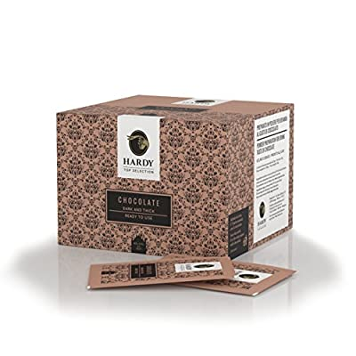 50 Bustine Monodose di Cioccolata Hardy - Chocolate Dark and Thick Ready to use (Premium Chocolate) by Caffè Hardy (Italy)