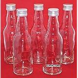24 leere Glasflaschen mit Schraubverschluss 200ml KRO Saftflaschen Likörflaschen Schnapsflaschen Essigflaschen Ölflaschen 0,2 liter l Essig/Öl Flaschen Saftflaschen von slkfactory