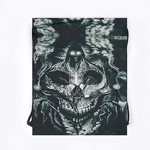 Longra Sacchetto di immagazzinaggio del sacchetto della porta del fascio del sacchetto del drawstring di Halloween B