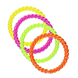 WIDMANN 03528?Juego con 4Anillas, One Size, Colores Fluorescentes