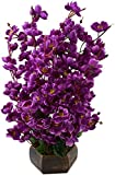 #9: Kaykon Beautiful Artificial Flowers Orchid Flower Bunch For Home Decoration - 12 sticks (Purple)