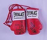 Autographe Mini-gants de boxe Evander Holyfield Mike Tyson