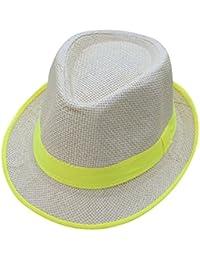 liYEZI�� Homme Femme Ete Chapeau Paille Plage Tresse Chapeau Voyage en Plein Air Anti UV Réglable Panama Chapeau Grande Vente