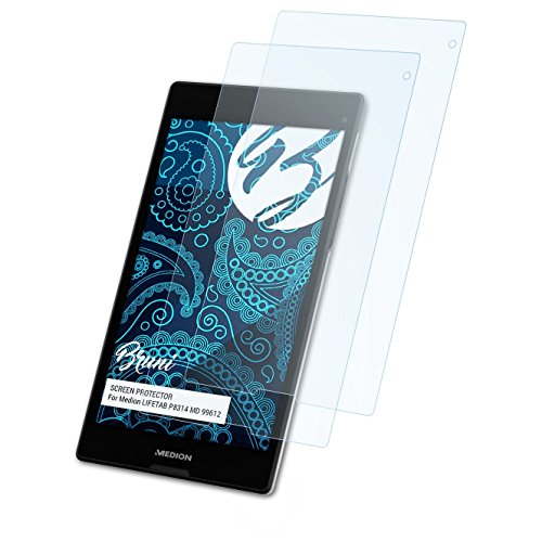 Bruni Schutzfolie kompatibel mit Medion LIFETAB P8314 MD 99612 Folie, glasklare Bildschirmschutzfolie (2X)