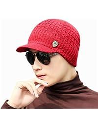 Bluestercool Berretto Invernale Uomo Con Visiera Cappelli Uomo Cotone  Eleganti c8c557d55526
