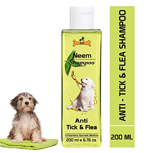4% Dog Shampoo Anti Tick & Flea by Dogz & Dudez | Organic Natural Neem & Lemongrass