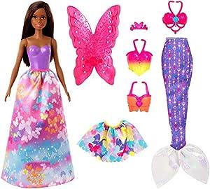 Barbie - Dreamtopia Pack de Regalo 2 Sets de Ropa y Accesorios (Mattel GJK41)