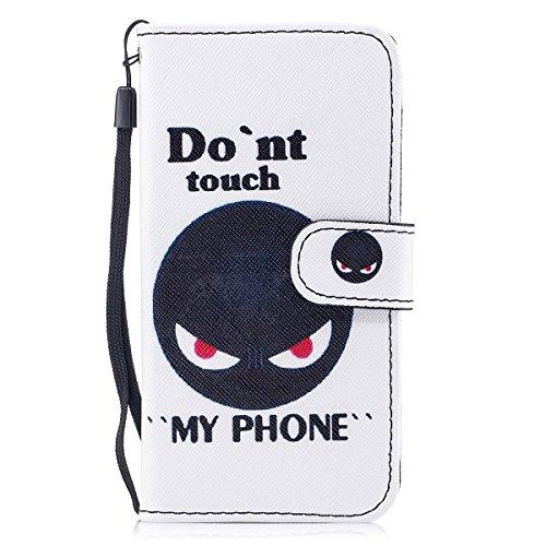 inShang Custodia per iPhone X 5.8 inch con design integrato Portafoglio, iPhoneX 5.8inch case cover con funzione di supporto. Black bombs