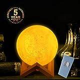 Lampe de Lune 3D(20cm), lampe led lune pour Enfants Chambre avec Contrôle Tactile Intelligent