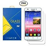 [2 Pack] Panzerglas Schutzfolie Huawei Ascend Y550 ( Y550-L01 / L02 / L03 ) - Gehärtetem Glas Schutzfolie Bildschirmschutzfolie für Huawei Ascend Y550 ( Y550-L01 / L02 / L03 )